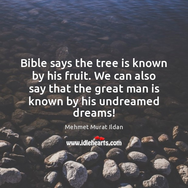Image, Bible says the tree is known by his fruit. We can also