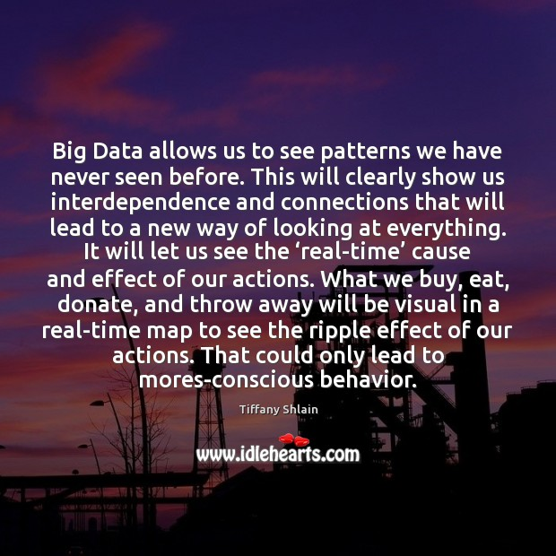 Big Data allows us to see patterns we have never seen before. Donate Quotes Image