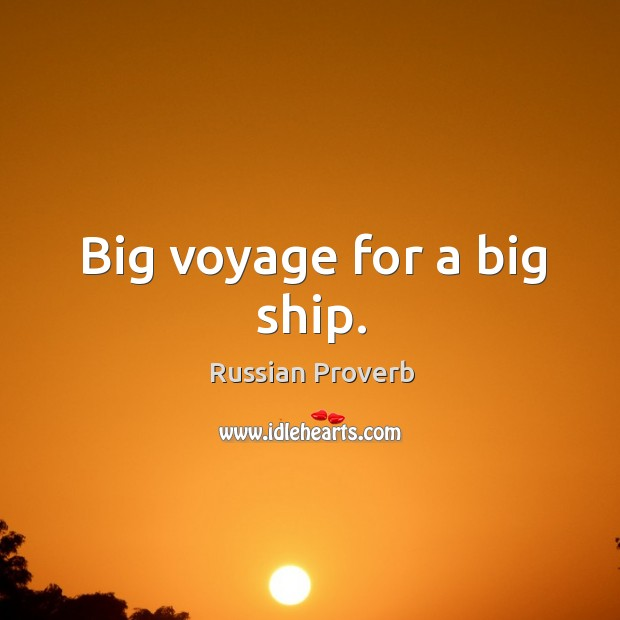 Image, Big voyage for a big ship.