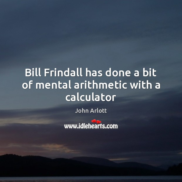 Image, Bill Frindall has done a bit of mental arithmetic with a calculator