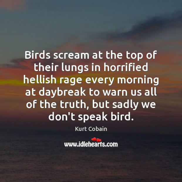 Birds scream at the top of their lungs in horrified hellish rage Image