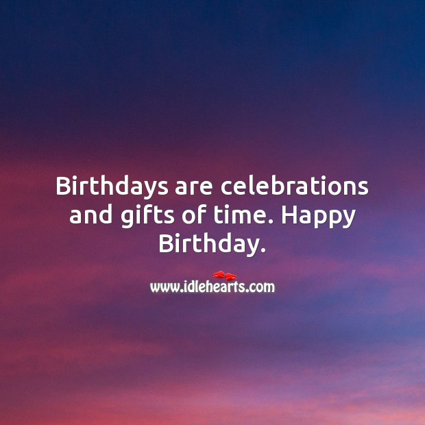 Birthdays are celebrations and gifts of time Image