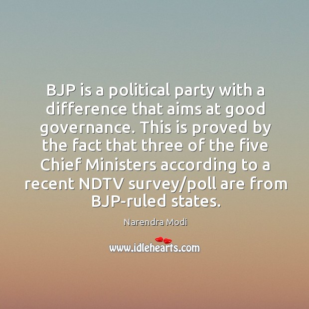 Image, BJP is a political party with a difference that aims at good