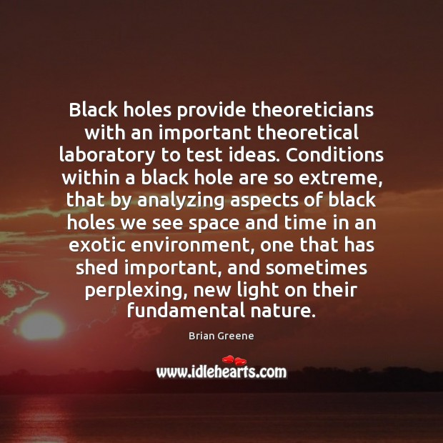Image, Black holes provide theoreticians with an important theoretical laboratory to test ideas.