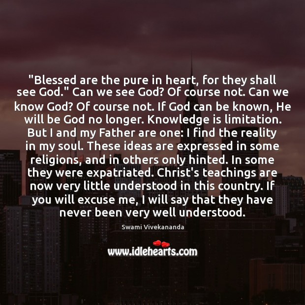 """Image, """"Blessed are the pure in heart, for they shall see God."""" Can"""
