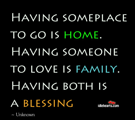 Having someplace to go is home Image