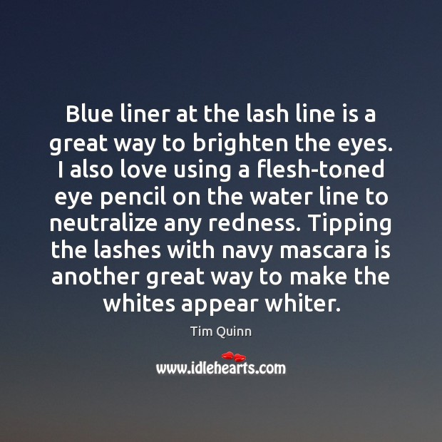 Blue liner at the lash line is a great way to brighten Image