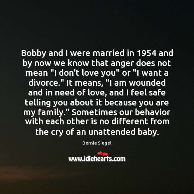 Image, Bobby and I were married in 1954 and by now we know that