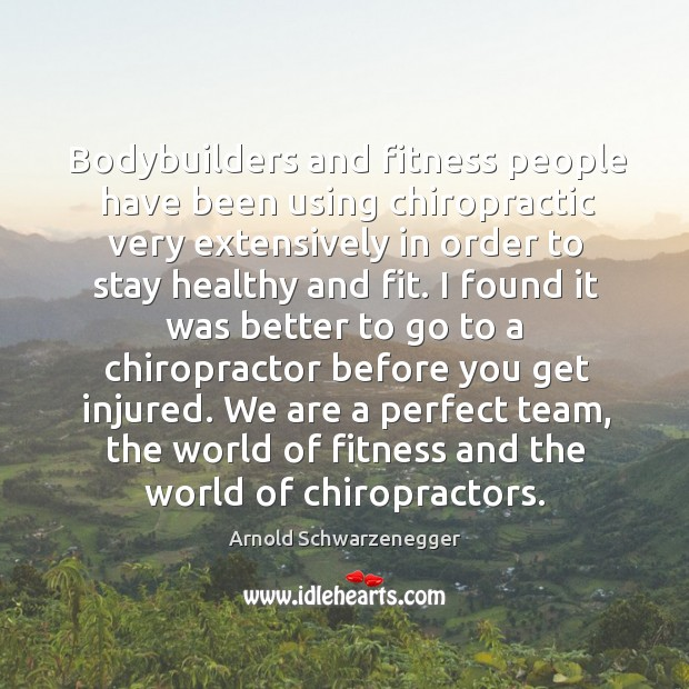 Image, Bodybuilders and fitness people have been using chiropractic very extensively in order