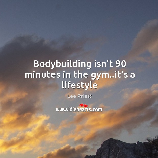 Bodybuilding isn't 90 minutes in the gym..it's a lifestyle Image