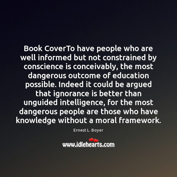 Image, Book CoverTo have people who are well informed but not constrained by