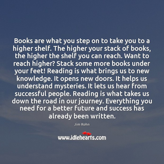 Image, Books are what you step on to take you to a higher