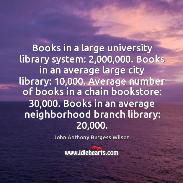 Books in an average neighborhood branch library: 20,000. Image
