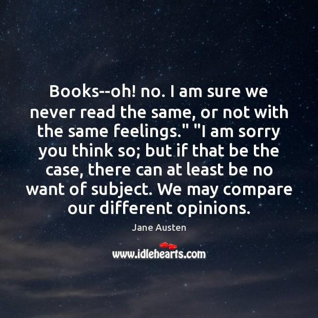 Image, Books–oh! no. I am sure we never read the same, or not