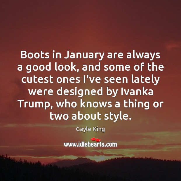 Boots in January are always a good look, and some of the Image