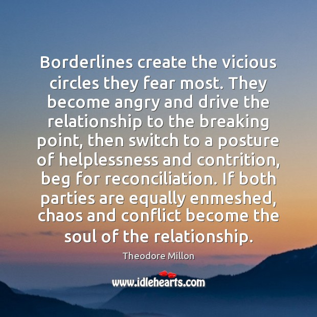 Borderlines create the vicious circles they fear most. They become angry and Image