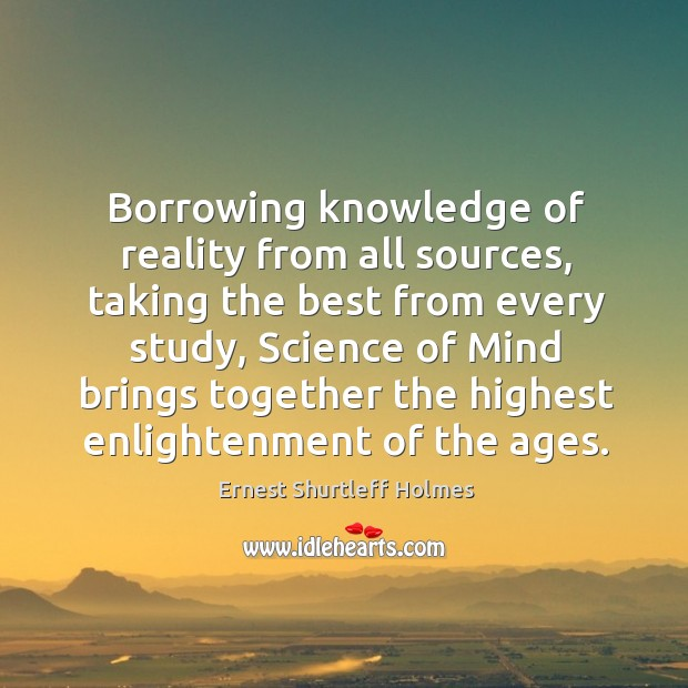 Image, Borrowing knowledge of reality from all sources
