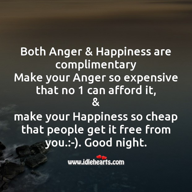 Image, Both anger & happiness are complimentary