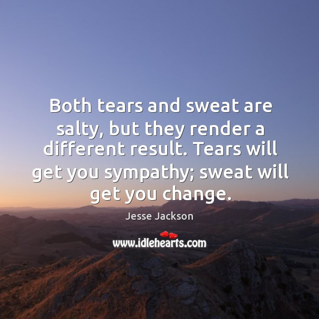 Both tears and sweat are salty, but they render a different result. Image