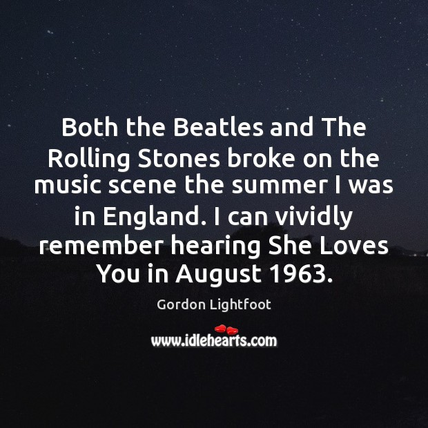 Both the Beatles and The Rolling Stones broke on the music scene Image