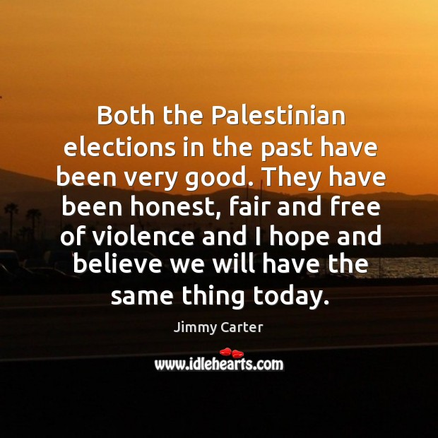 Image, Both the palestinian elections in the past have been very good.