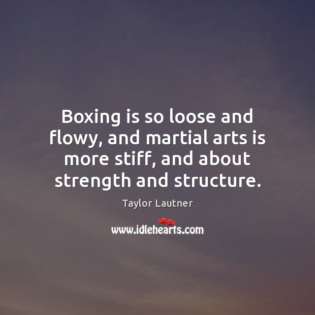 Boxing is so loose and flowy, and martial arts is more stiff, Image