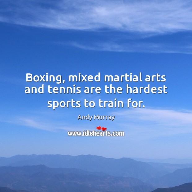 Image, Boxing, mixed martial arts and tennis are the hardest sports to train for.