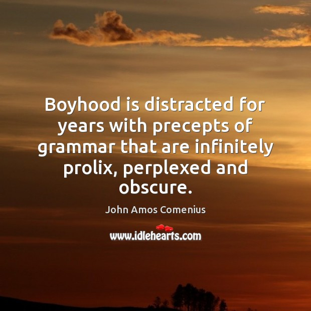 Image, Boyhood is distracted for years with precepts of grammar that are infinitely