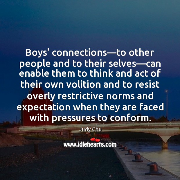 Boys' connections—to other people and to their selves—can enable them Image