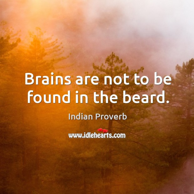 Brains are not to be found in the beard. Image