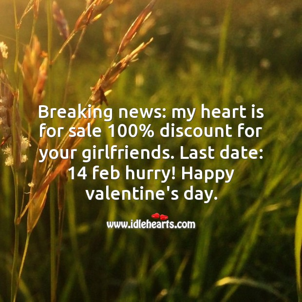 Breaking news Valentine's Day Messages Image