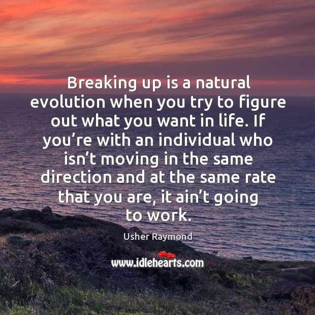 Image, Breaking up is a natural evolution when you try to figure out what you want in life.