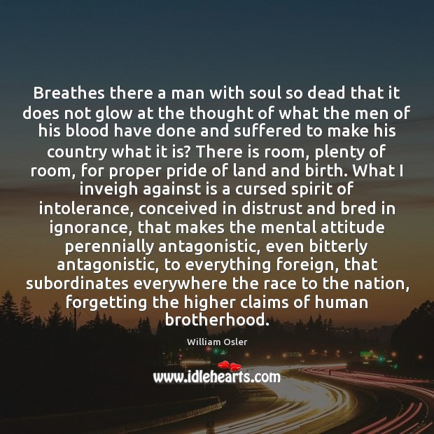 Image, Breathes there a man with soul so dead that it does not