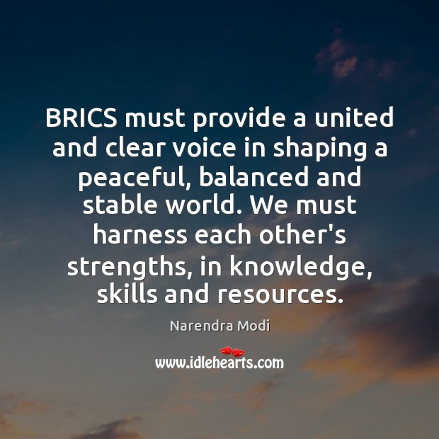 Image, BRICS must provide a united and clear voice in shaping a peaceful,