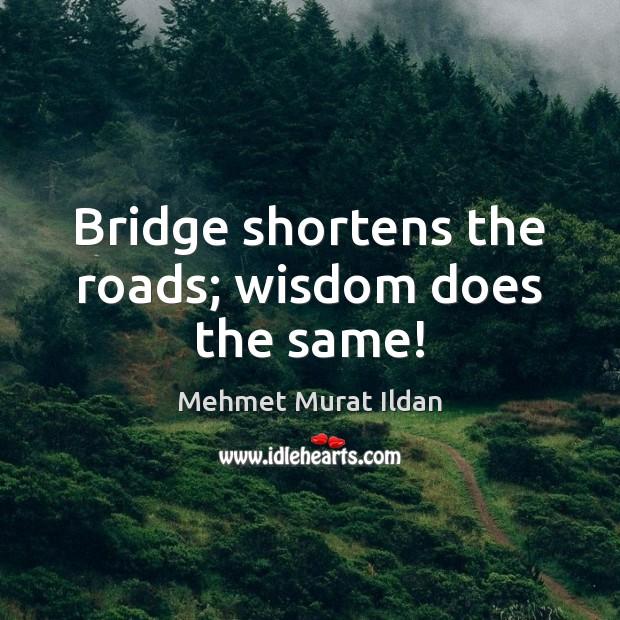 Image, Bridge shortens the roads; wisdom does the same!