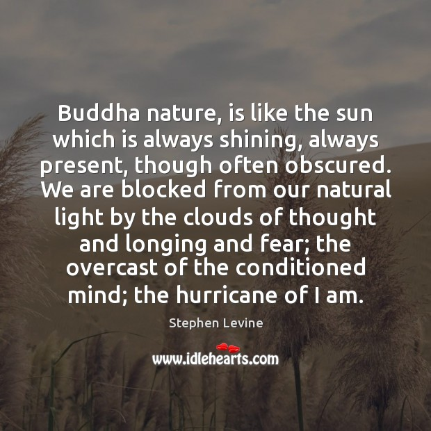Buddha nature, is like the sun which is always shining, always present, Image