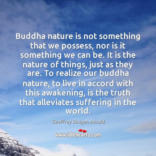 Buddha nature is not something that we possess, nor is it something Awakening Quotes Image