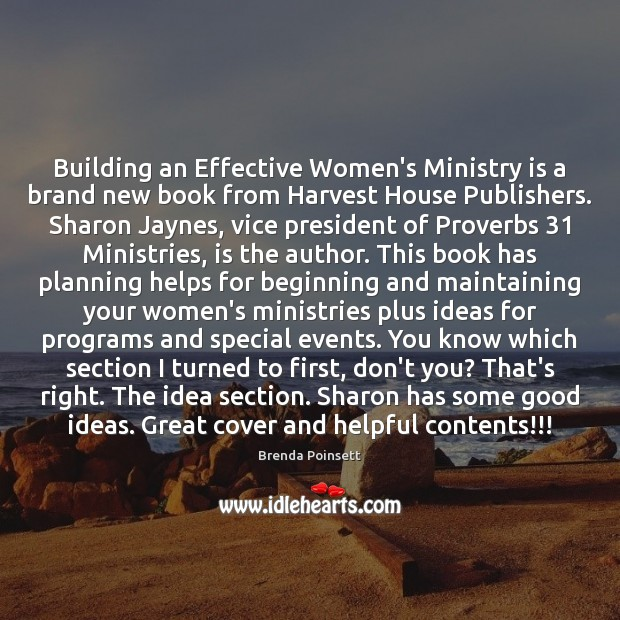 Building an Effective Women's Ministry is a brand new book from Harvest Image