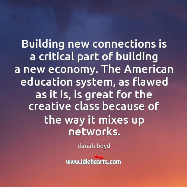 Image, Building new connections is a critical part of building a new economy.