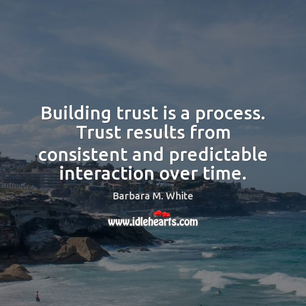 Image, Building trust is a process. Trust results from consistent and predictable interaction