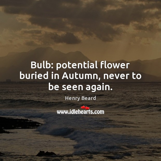 Image, Bulb: potential flower buried in Autumn, never to be seen again.