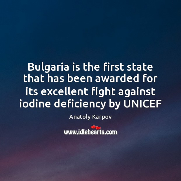 Image, Bulgaria is the first state that has been awarded for its excellent