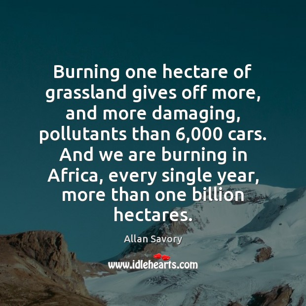 Image, Burning one hectare of grassland gives off more, and more damaging, pollutants