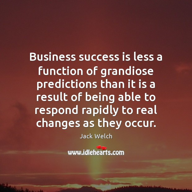 Image, Business success is less a function of grandiose predictions than it is