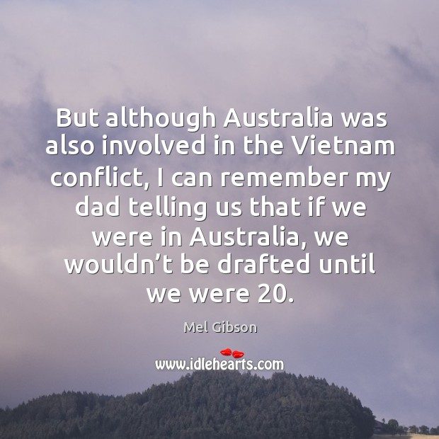 But although australia was also involved in the vietnam conflict Image