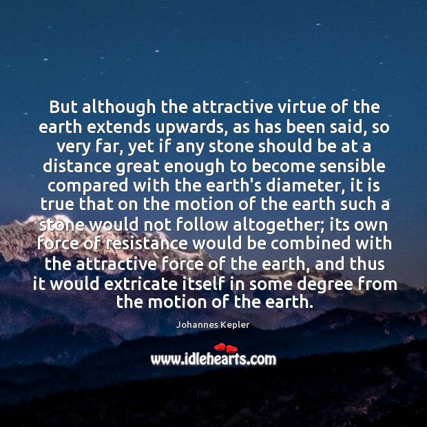 Image, But although the attractive virtue of the earth extends upwards, as has