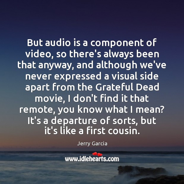 Image, But audio is a component of video, so there's always been that