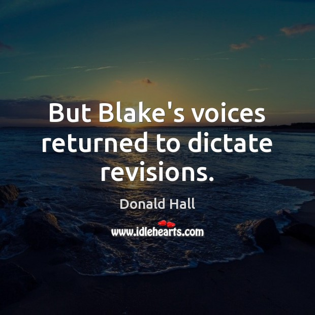 Image, But Blake's voices returned to dictate revisions.