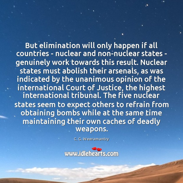 Image, But elimination will only happen if all countries – nuclear and non-nuclear