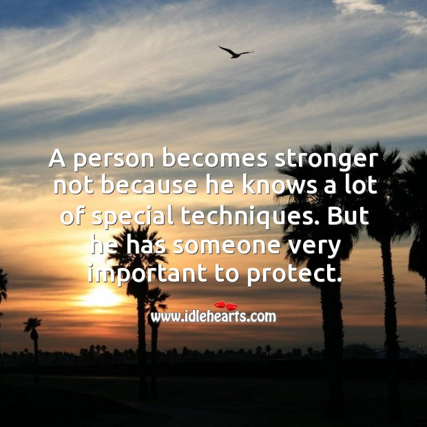 But he has someone very important to protect. Image